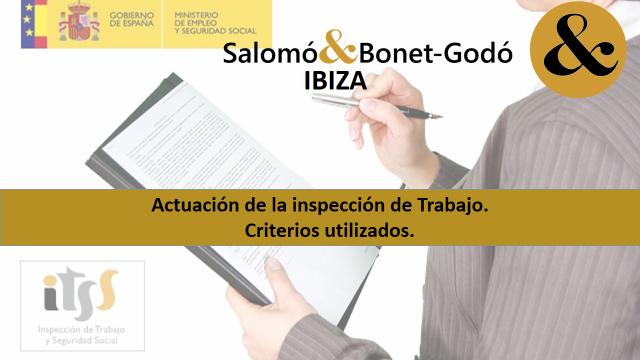 Inspección de Trabajo y Seguridad Social. RESUMEN del CRITERIO TÉCNICO.